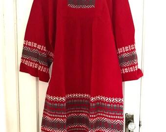 Vintage Embroidered Mayan Guatemalan Dress