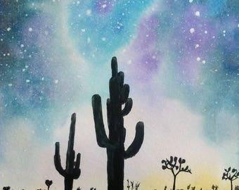Milky Way Watercolor