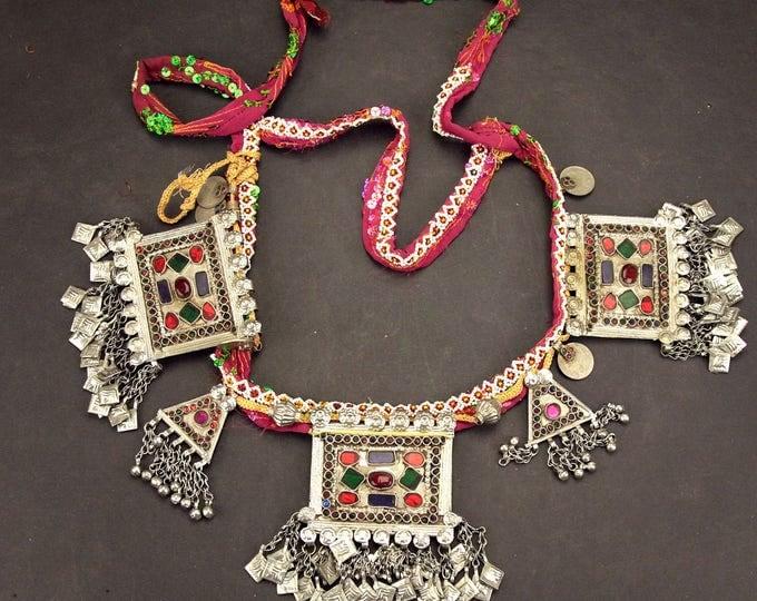 Afghan Tribal BELT Bellydance Dangles Turkoman 868j6