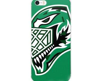 "Green ""92"" Goalie Mask iPhone Case"