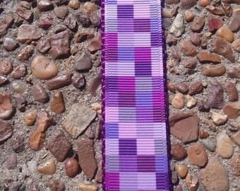 Purple Dog Collar, Checkered Dog Collar, Pretty Purple Collar, Lavender Dog Collar, Girl Dog Collar, Design Dog Collar, Lilac Dog Collar