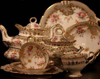 Beautiful English Regency (Jane Austen) Teaset