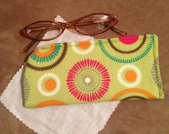 Colorful Circle Eyeglass Case/ Unisex Eyeglass Case