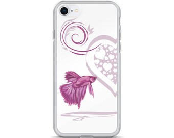 Aquarium Fish Lover iPhone Case - Gift for Betta Fighting Fish Lover - Betta Heart