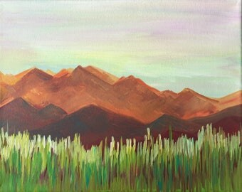 Rust Mountain Painting