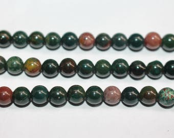15 Inches Full strand,Natural Bloodstone Smooth round beads 4mm 6mm 8mm 10mm 12mm ,loose beads,semi-precious stone