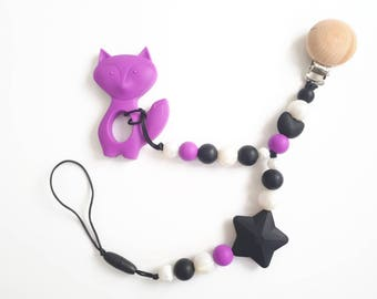 Multi, pacifier, pacifier, teething toy, beads, silicone, Fox, accessory pacifier baby