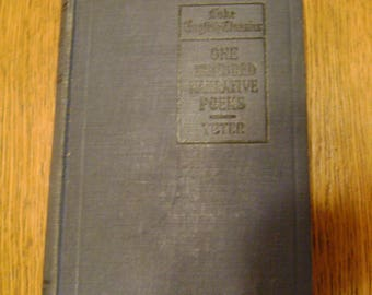 One Hundred Narrative Poems 1918