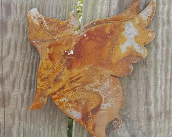 Patina/Oxidized/Rusty Flying Pig