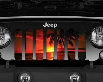 Jeep Grill Insert Sunset Palm