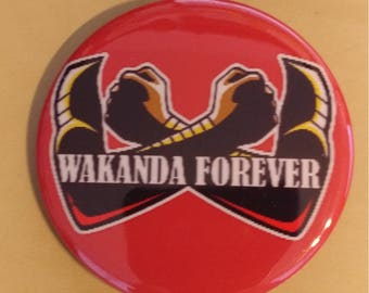 Black Panther Wakanda Forever 2.25 Inch Button