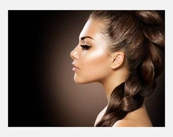 Beauty hair Salon Braid Poster or Canvas