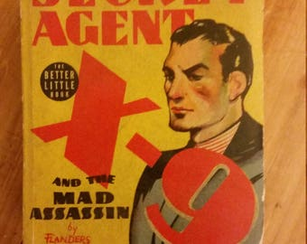 Secret Agent X-9 and the Mad Assassin, The Better Little Book, by Flanders