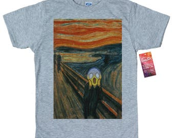 The Scream T shirt, Edvard Munch, Emoji Painting