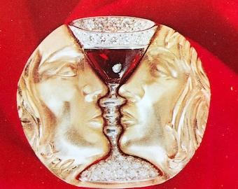 Postcard Salvador Dali Art-In-Jewels Series