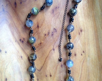 Agate chain necklace