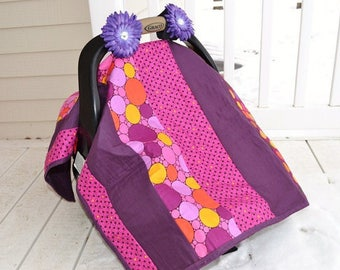 Quilt As You Go Car Seat Canopy Quilt Pattern- Crib Bedding Baby Quilt Pattern- Strip Quilt Pattern- QAYG Sewing Pattern - Baby Shower Gift