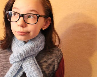 Lacy Hand-Knit Scarf