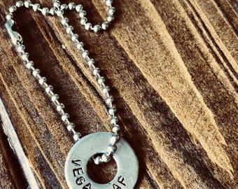 VEGAN AF Stainless Steel Ball Chain Bracelet