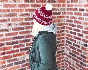 red & white stripes hat