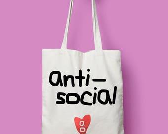 Antisocial Tote Bag AO