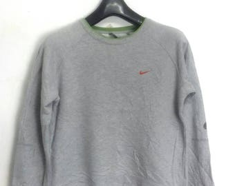 NIKE sweatshirt crewneck jumper embroided logo large size(womens)