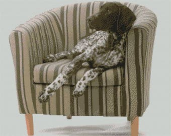 German Shorthaired Pointer Cross stitch Kit