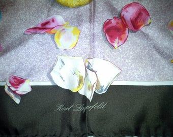 KARL LAGERFELD's 80 years ' scarf