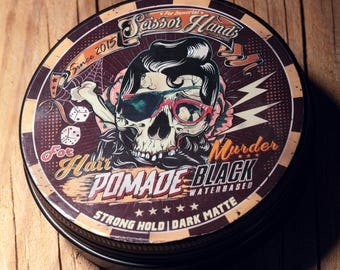 Man hair pomade. 3.33 OZ 100ML wax.balm.Manly hair wax genuine organic materials with satisfying flavor. Pure manly materials made for style
