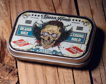Beard wax /2 OZ/60ML balm.Manly beard wax genuine organic materials with satisfying flavor. Pure manly materials made for style