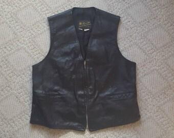 Vintage read leather vest