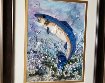 Salmon in Blue