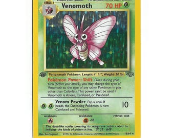 Venomoth Holo Pokemon Card (Jungle 1st Edition)