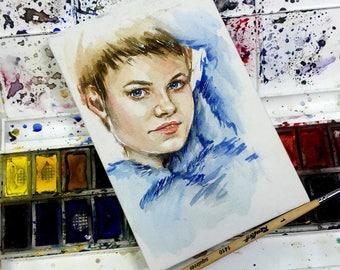 Your Custom Watercolor Portrait. Just send me a photo!