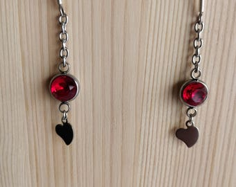 Red Collection - heart earrings