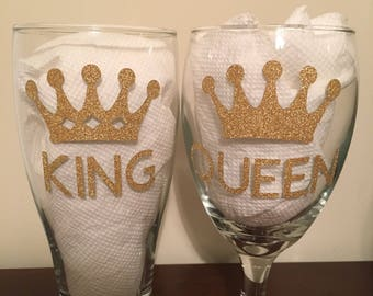King and Queen glasses