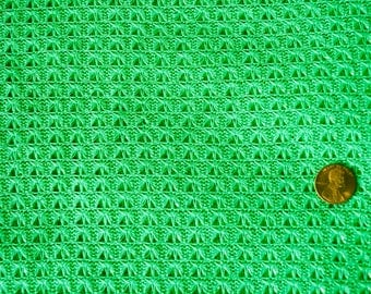 Green and Metallic Knit