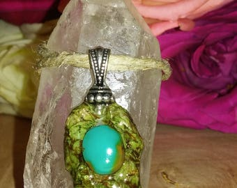 Turquoise Pineal Pendant with Silver