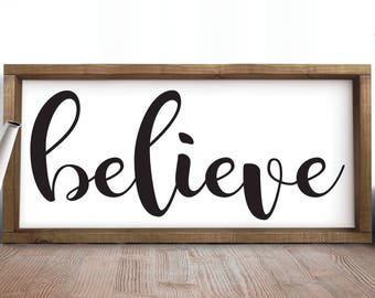 Believe, Inspirational Gifts, Rustic Wood Signs, Quote Rustic Signs, Large Wall Art, Quotes, Signs, Office Rustic Decor, Office Decor,