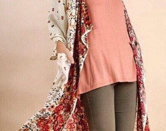 Floral Umgee Cardigan with pockets