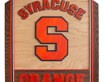 Customizable 3D Wooden Art - Syracuse Orange (Made in Cuse!)