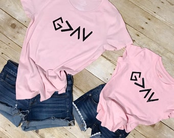 Mother Daughter Matching Shirts - God Is Greater - God is Greater Than My Highs and Lows - Mother Daughter Christian Shirts