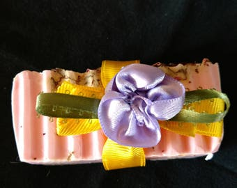 Rose essential oil bar soap