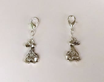 Easter Bunny Hearing Aid Charm