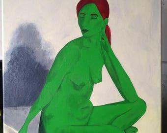 Woman of Green- Acrylic on Canvas