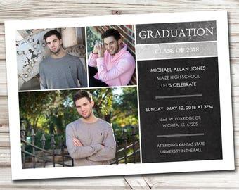 Graduation Announcement, Photo Graduation Announcement, Graduation Invitation, Graduation Postcard, Graduation Party Invitation