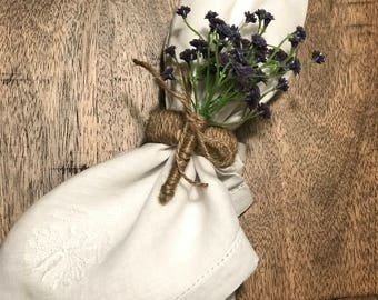 Gypsophila Flower Napkin Ring
