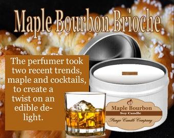 Maple Bourbon Brioche Scented Soy Candle Tin (8 oz.)