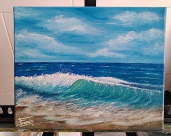 """Oil painting. """"Wave"""""""
