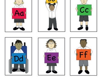 EYFS KS1 Multi-Cultural Diverse Alphabet PDF Posters/Flashcards Educational Printable Resource